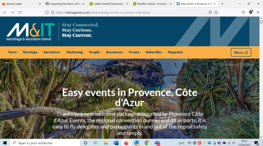 Easy events in Provence and Côte d'Azur
